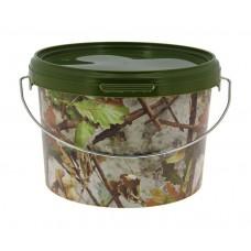 Кофа за риболов NGT Round Camo Bucket 5 литра Кофи, легени, сита
