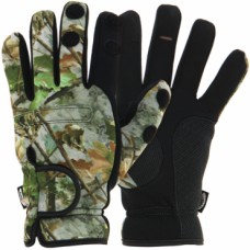 Неопренови ръкавици NGT Camo Neoprene Fishing Gloves Шапки и ръкавици