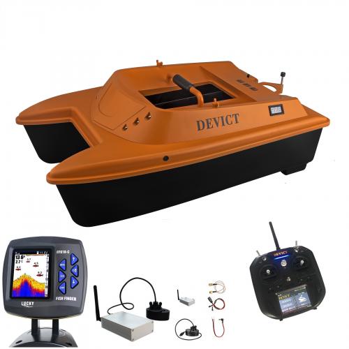 Лодка за захранка със сонар DEVICT Catamaran Bait Boat Black FF918 Лодки за захранка