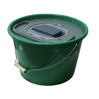 Кофа за жива стръв 25 литра кръгла+помпа Plastilys