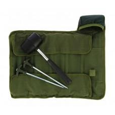 Комплект колчета за палатка с чук NGT Bivvy Pegs in Deluxe Roll up Case Палатки