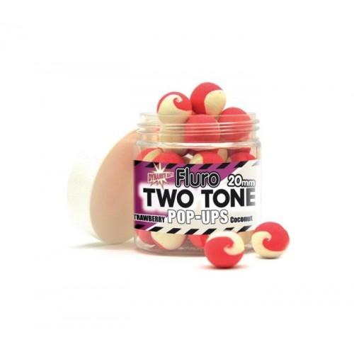 Плуващи топчета Dinamite Baits Two Tone Fluro Strawberry & Coconut  Плуващи топчета Pop Up