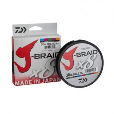 Плетено влакно Daiwa J-Braid X8 - 500 м / multi color Плетени
