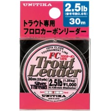Флуорокарбон Unitika Silver Thread Trout Leader FC 30 м